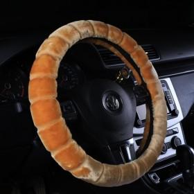 汽车方向盘把套宝马冬季短毛绒保暖防滑手缝通用型男可