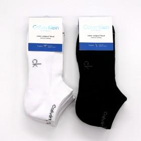 3双装 美国正品CK男士毛巾袜短袜船袜全棉袜运动袜