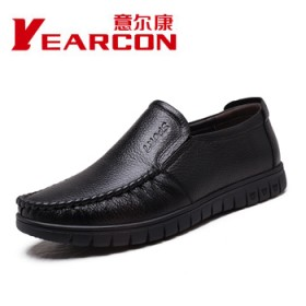 亏本特卖,头层牛皮正品意尔康休闲男鞋商务皮鞋