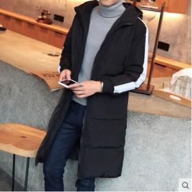 男士中长款棉衣棉服男棉袄连帽加厚外套冬装
