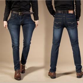 2017春季新款男士大码弹力修身牛仔裤