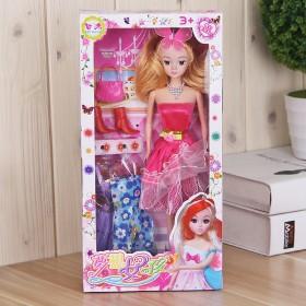 换装礼盒芭比娃娃玩具新娘婚纱衣服洋巴比公主儿童礼物