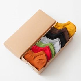 女袜女式船袜全棉秋冬季女款隐形袜低帮7双装