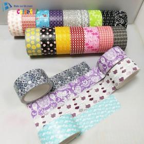 印刷布基胶带 10卷花色套装手工制作相框笔筒胶带