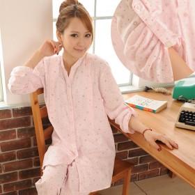 春夏纯棉月子服长袖孕妇睡衣哺乳衣产后喂奶