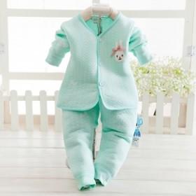 新生儿衣服加厚保暖夹棉内衣套装秋冬男女宝宝