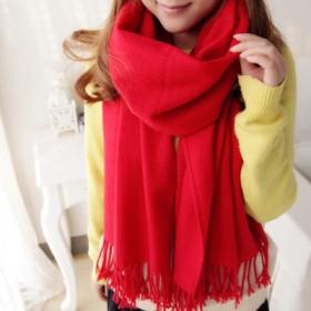 围巾女冬韩版百搭纯色保暖时尚超柔亲肤新年装围巾披肩