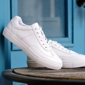 真皮小白鞋男女款