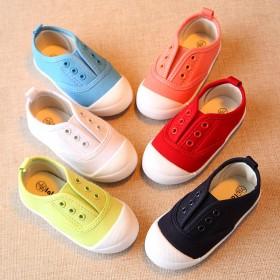2017新款儿童布鞋宝宝鞋子男童板鞋女童单鞋小白鞋