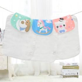 宝宝吸汗巾纯棉6层纱布婴儿垫背巾0-3-4-6岁