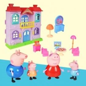 畅销动漫佩佩猪玩具 带电池灯光音乐高级套装