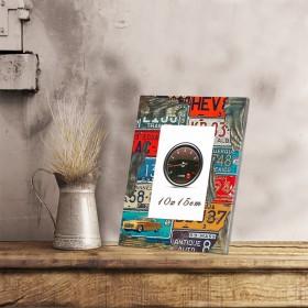 式乡村相框摆台摆件创意家居复古木质6寸像框装饰品