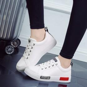 百丽板鞋秋冬女鞋运动鞋 学生跑步休闲鞋系带小白鞋