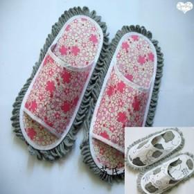 懒人擦地拖鞋潮款帆布四季擦地板鞋男女家居清洁工具特