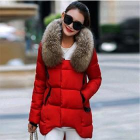 韩版休闲女装修身短款毛领棉衣女外套大码加厚羽绒棉服