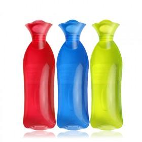 透明PVC长条充水热水袋防爆防漏注水暖水袋暖手宝