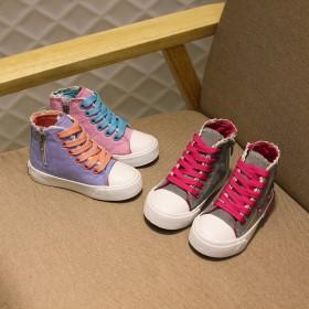 女童休闲鞋英伦风球鞋