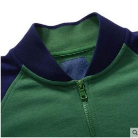 真维斯男装外套男士冬季舒适立领撞色休闲开衫夹克