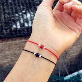 男女学生情侣手链一对鸡年本命年极细红绳女生手链