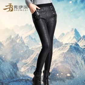 特价保暖裤加绒加厚打底裤 秋冬装外穿中年女裤长裤