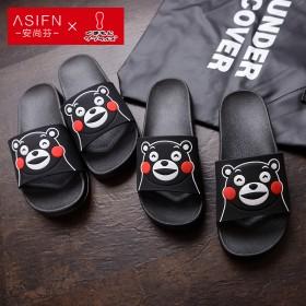 熊本熊情侣凉拖鞋 浴室洗澡男女小孩拖鞋夏季