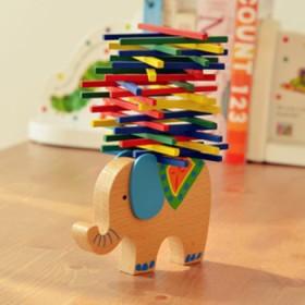 彩棒游戏 儿童动手益智游戏 爸妈亲子玩具大象骆驼