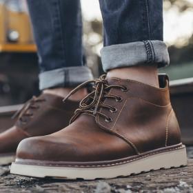 工装靴男棉靴沙漠靴