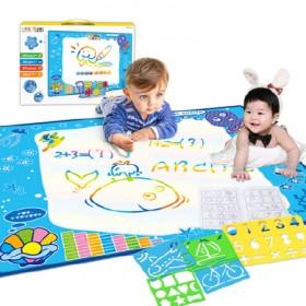 儿童神奇魔法水画布创意涂鸦水画毯水写笔绘玩具