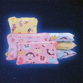 婴儿宝宝儿童枕头卡通 幼儿园防偏头矫正全棉透气定型