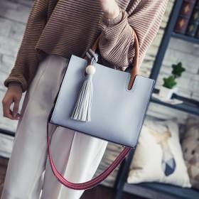 女士包包新款韩版斜跨手提包单肩包时尚流苏托特包大容
