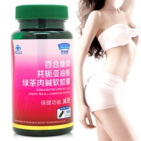 买1送1减肥胶囊百合康绿茶肉碱共轭亚油酸男女通用