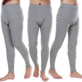 男士单件纯棉大码秋裤棉毛裤保暖裤打底裤