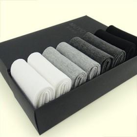 【8双盒装】中厚款男士中筒袜 纯棉吸汗防臭