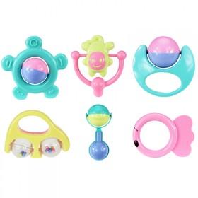 婴儿玩具手摇铃 新生儿宝宝0-3-6-12个月练手