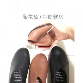 一脚蹬乐福鞋单鞋上班工鞋平底单鞋流行女鞋孕妇豆豆鞋