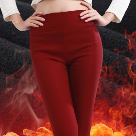 秋冬款女士加绒加厚打底裤外穿长裤