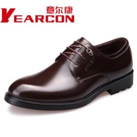 品牌意尔康真皮新款经典正装皮鞋百搭英伦男鞋