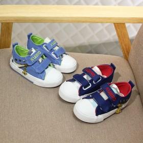 炫彩牛仔拼色儿童帆布鞋