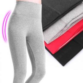 高腰纯棉秋裤女士单件修身莱卡棉美体衬裤冬保暖裤线裤