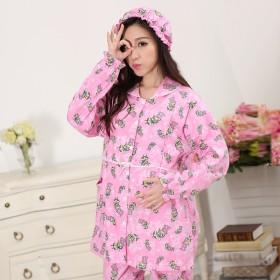 春秋纯棉月子服长袖孕妇睡衣哺乳衣