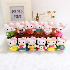 韩国hello Kitty十二星座钥匙扣挂件