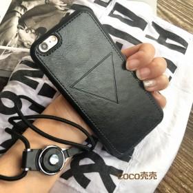 黑白苹果iphone7plus情侣手机壳皮套6s