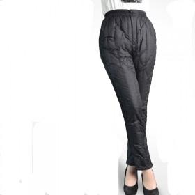 羽绒裤女士女裤保暖裤内穿加大码冬裤加厚外穿中老年