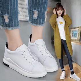 原宿内增高女鞋小白鞋女休闲运动鞋板鞋松糕厚底坡跟系
