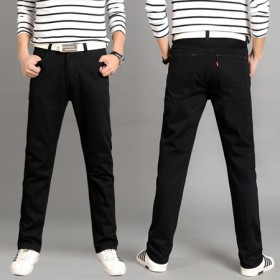 黑色直筒牛仔裤男式新款