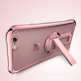 苹果6P手机壳6s防摔软胶硅套i7带支架保护壳