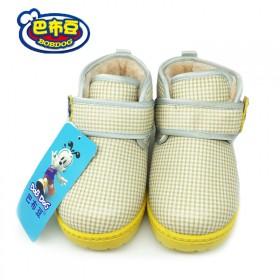 巴布豆童鞋男女宝学步鞋 儿童运动鞋秋冬款2-6岁