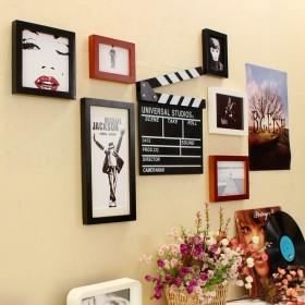 实木照片墙送场记板海报