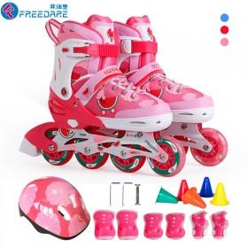 (过年送礼,终生保修)正品溜冰鞋儿童闪光轮滑鞋套装