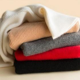100%纯羊绒衫女高领修身显瘦
